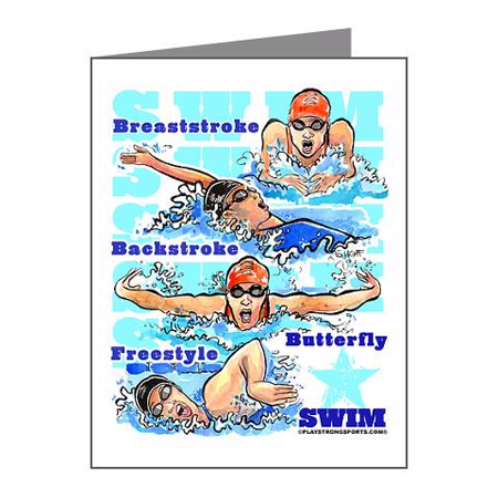 Swimming greeting cards thanks coach official thanks coach site swimming greeting cards play strong sports powercards m4hsunfo