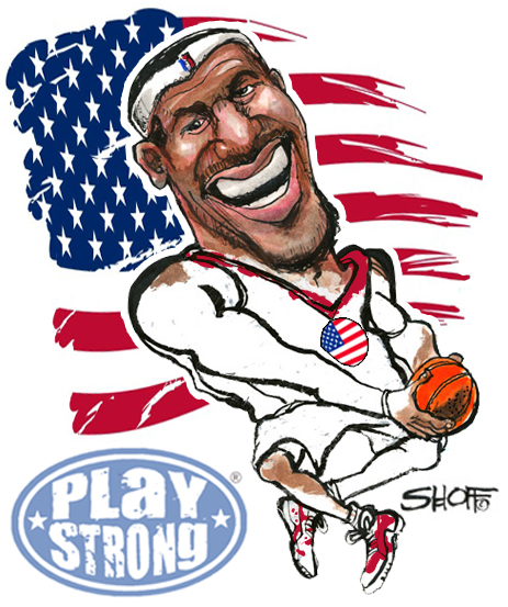 Lebron James Team USA Flyin' High
