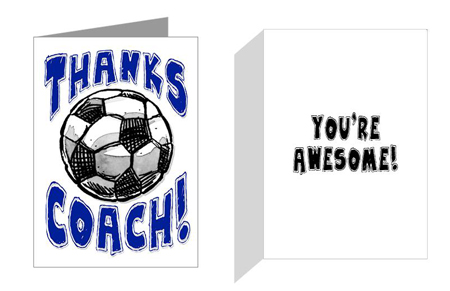 Thanks soccer coach sports greeting cards play strong soccer play strong soccer sports powercards m4hsunfo