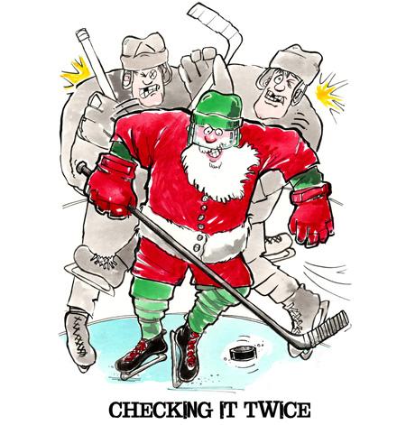Hockey Christmas Card