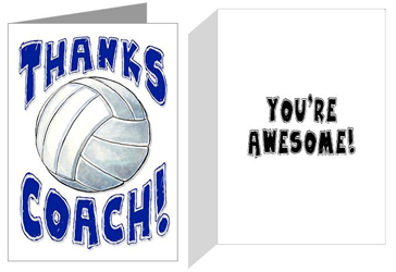 Sports christmas cards play strong sports greeting cards thanks coach volleyball m4hsunfo