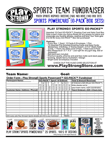 Play Strong Sports Go-Pack Fundraiser
