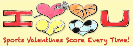 Sports Valentines Greeting Cards